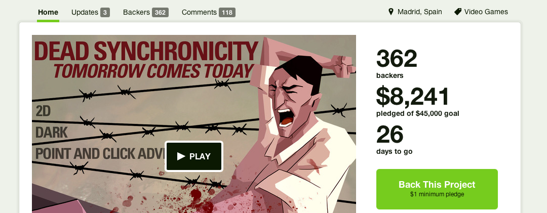 «Dead Synchronicity» on Kickstarter and Greenlight!
